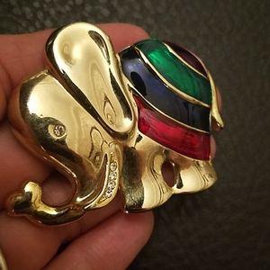 VTG elephant brooch